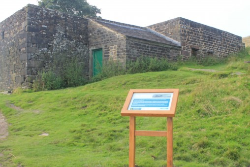 One of two new 'heritage' style information signs installed at Top Withens